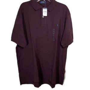 Polo Ralph Lauren Wine Size LT 1XB Short Sleeves